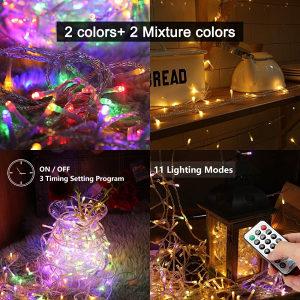 200 LED RGB lampice, 20 metara, daljinski, vodootporne