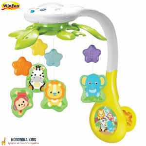 Vrtuljak za bebe muzicki sa svjetlom projektor