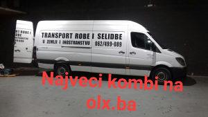 Kombi prevoz sarajevo-loko 30km kombi je najveci na olx