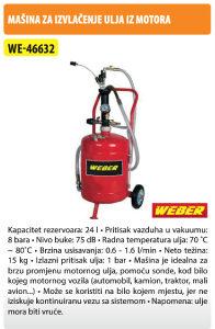 Masina za izvlacenje ulja WEBER WE-46632