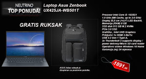 ASUS ZenBook 14  Windows 10, i5 RAM 8GB, SSD 512GB