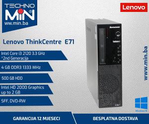 Lenovo E71, i3 2120 3.3/4/500/HD2000/DVD-RW/SFF
