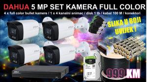 Video nadzor set 5 MP FULL COLOR 24/7 slika u boji