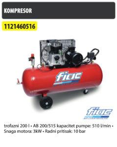 Kompresor 200l  AB 200/515 FIAC