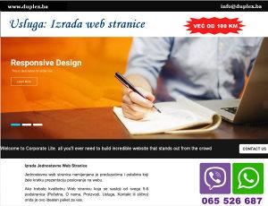 Jednostavna web stranica