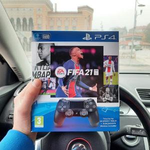 FIFA 21 + Dualshock 4 Joystick PS4 Playstation 4