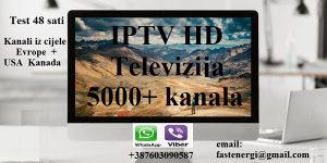IPTV HD Televizija 5000+ kanala VIDEOTEKA