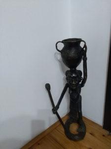 Stara Afrička bronzana figura 64 cm