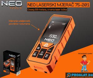 NEO Laserski mjerač 60m 75-201