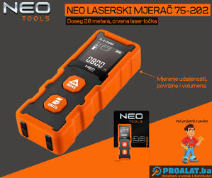NEO Laserski mjerač 20m 75-202