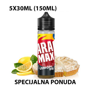 5 Bočica Aramax Lemon Pie 5x30ml 3mg 150ml