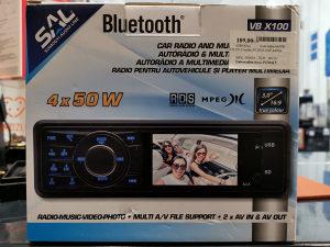 """SAL autoradio VB X100 4x50W   3"""" LCD zaslon"""