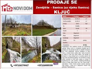 PRODAJE SE - Zemljište - Sanica - KLJUČ