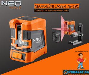 NEO Samonivelirajući križni laser 15m 75-101
