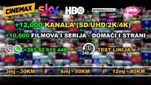 IPTV Premium - 12000 Kanala + Videoteka *Novi Serveri*