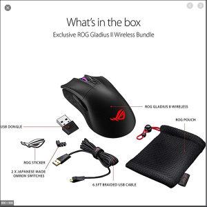Asus ROG Gladius II Wireless Gaming mouse 16000dpi