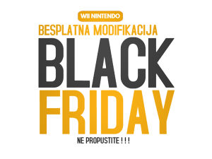 Nintendo Wii modifikacija Black Friday ponuda
