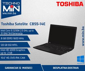 Toshiba C855-14E, i5 3210M 2.5/8/120SSD/DVD-RW/CAM