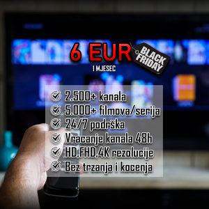 Global IPTV - BLACK FRIDAY -2.500 kanala - Videoteka
