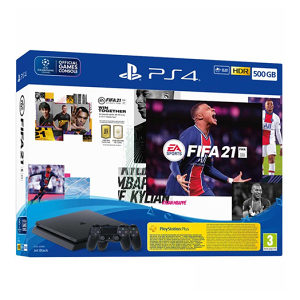 PlayStation 4 500GB + FIFA 21 + 2x Dualshock