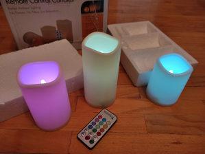 RGB svijeće na baterije s daljinskim upravljačem