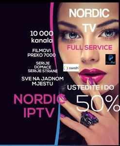 IPTV NORDIC vec od 7 eu
