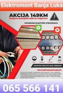 AKCIJA Električar Banja Luka 065 566 141 INTERVENCIJE