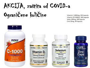 Paket suplemenata Vitamin C, Vitamin D3, Selen, Cink