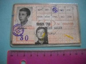 Vozna karta GSP Sarajevo iz 1969/70 godine