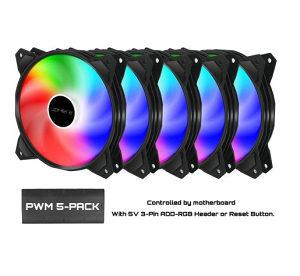 UpHere 120mm RGB Cooler 5 Komada