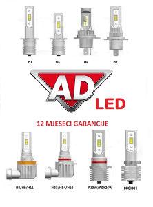 LED sijalice H1,H3,H7,H8,H9,H11,HB3,HB4,P13W,PSX26W,HIR