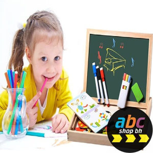 Dječija igračka MAGNETNA drvena ploča