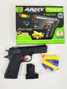 Pistolj za djecu na gumene spuzvene metke