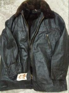 Kožne muške jakne sa prirodnim krznom brojevi 52,54,56.