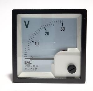 Voltmetar analogni 30VDC, 72x72mm