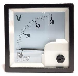 Direktni ampermetar DC, 60A, 72x72mm