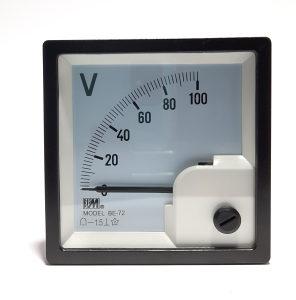 Voltmetar analogni 100VDC, 72x72mm