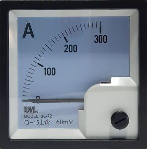 Ampermetar DC 300A/60mV, 72x72mm