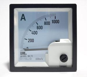 Ampermetar DC 1000A/60mV, 72x72mm
