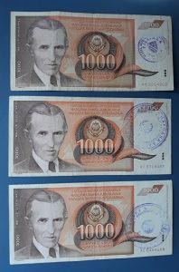 Novčanice YUGOSLAVIJA--SET