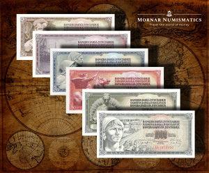 Jugoslavija UNC SET 10+20+50+100+500+1000 Dinara