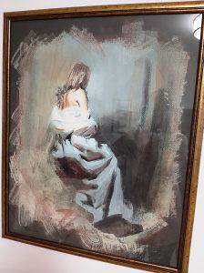 """Umjetnička slika, u potpisu """"Saida"""""""
