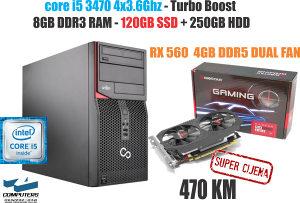 Računar i5 3470 / RX560 4GB / 8GB RAM /SSD+HDD