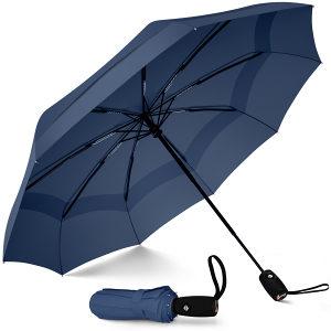 Kvalitetan kišobran sklopivi tamno plavi