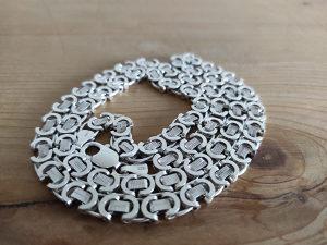 Veliki srebreni lanac lancic 925 srebro 67 cm duzina