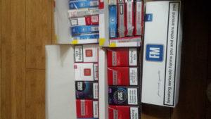 Prazne kutije od cigareta veca kolicina