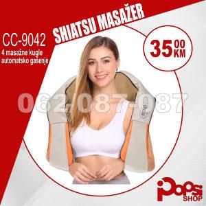 Shiatsu masažer za tijelo, vrat, leđa - 4 masažne kugle