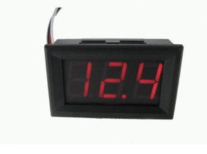 Voltmetar digitalni LED 0-30V panel za auto