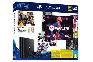 PS4 Sony PlayStation 4 PRO + FIFA 21 + 2x Dualshock 4