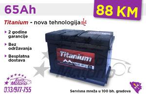 Akumulatori TITANIUM 65Ah - Besplatna dostava!
